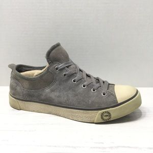 UGG   Evera Suede Leather & Shearling Sneaker EUC